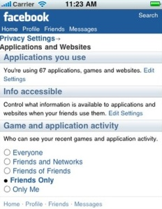 Facebook privacy settings...time to check 'em.
