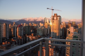 View from the apartment - hello Vancouver.