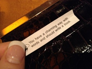 Thankful for random fortunes that make me smile. How did it know? Thanks cookie.